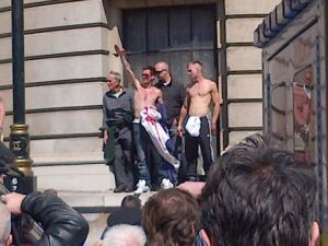 EDL giving Nazi salute because they don't know any better
