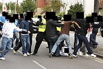 Racist EDL mob violence in Dagenham