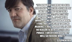 Stephen Fry on 'Taking offence'